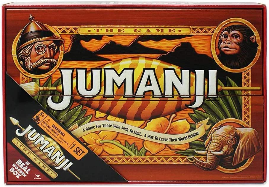 Cardinal 6041476 Jumanji: The Game in Real Wooden Box