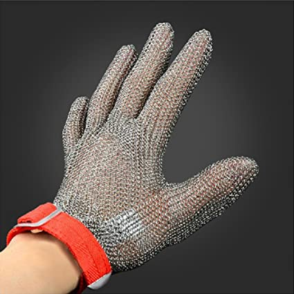 Amazon.com: Anti corte guantes anillo de acero inoxidable ...
