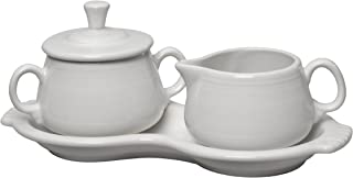 product image for Fiesta Covered Creamer and Sugar Set with Tray, White