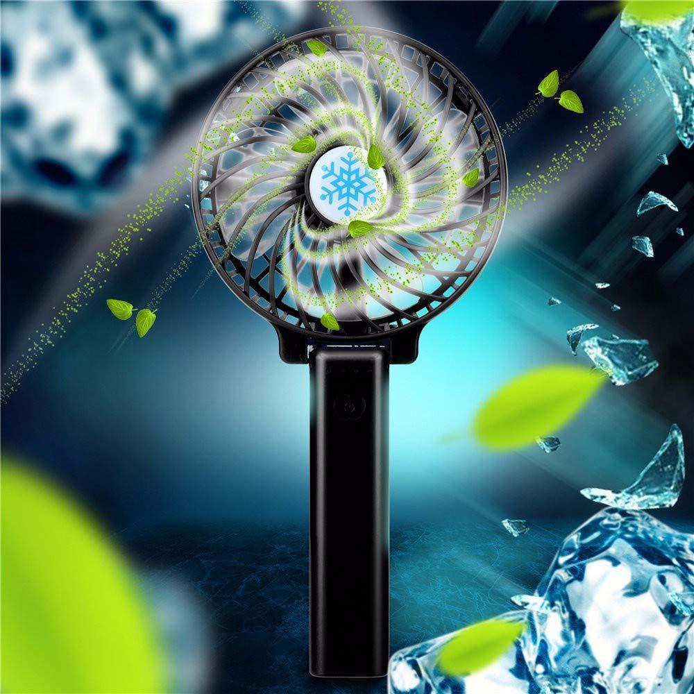 CAOQAO Ventola portatile ricaricabile USB Quattro colori opzionali Dimensioni: 21,5 * 10,2 * 3,5 cm Forte ventola desktop alimentata dal vento Vento regolabile a tre velocit/à