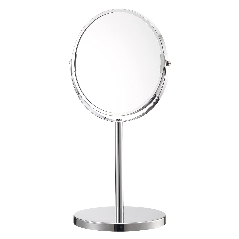 Kendan - Cosmetic Make Up Mirror, 3X Magnifying Vanity Table Shaving Mirror - Stainless Steel
