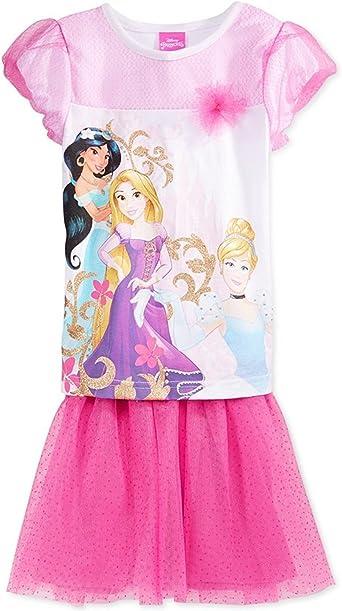 Disney Princesses Little Girls 2-Piece Tutu Set Pink