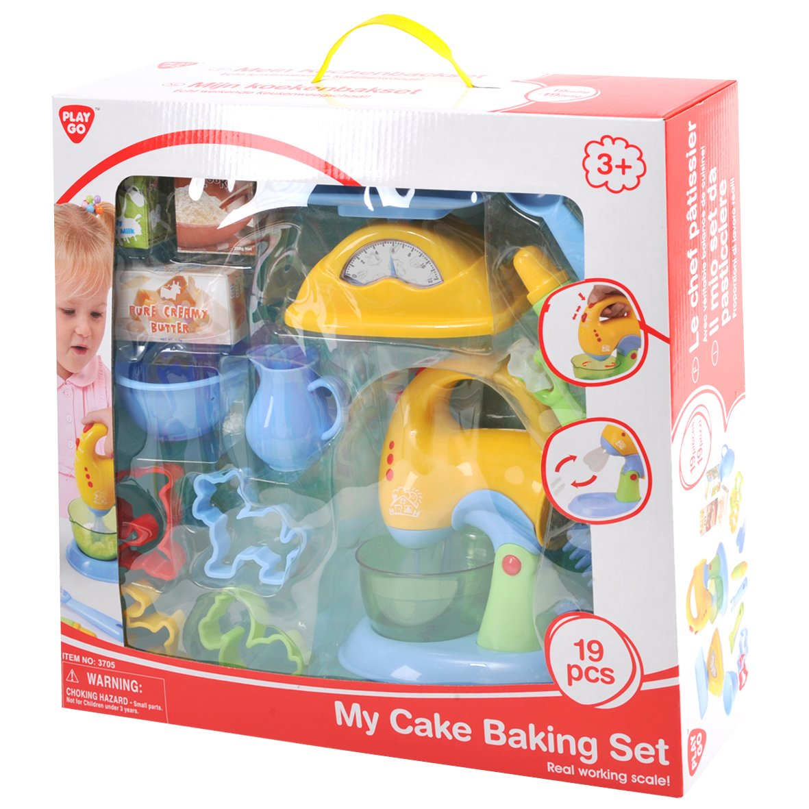 PlayGo My Cake Baking Set - 19 Pieces - Real Working Scale & Mixer!