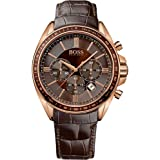 Boss - 1513093 - Montre Homme - Quartz Chronographe - Bracelet Cuir Marron