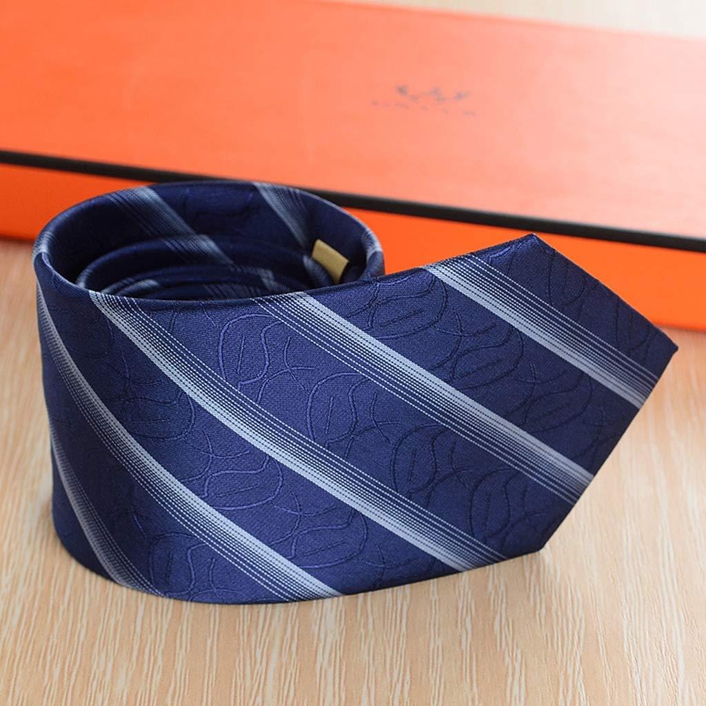 JINGJING Corbata de Rayas diagonales para Hombre Elegancia clásica ...