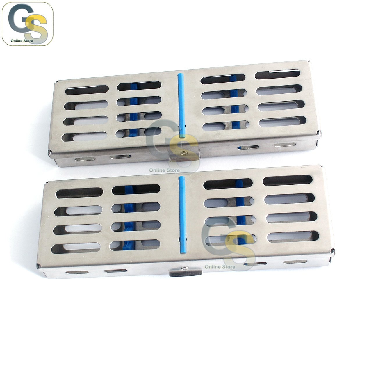 G.S 10 STERILIZATION CASSETTES RACK BOX FOR 5 INSTRUMENTS