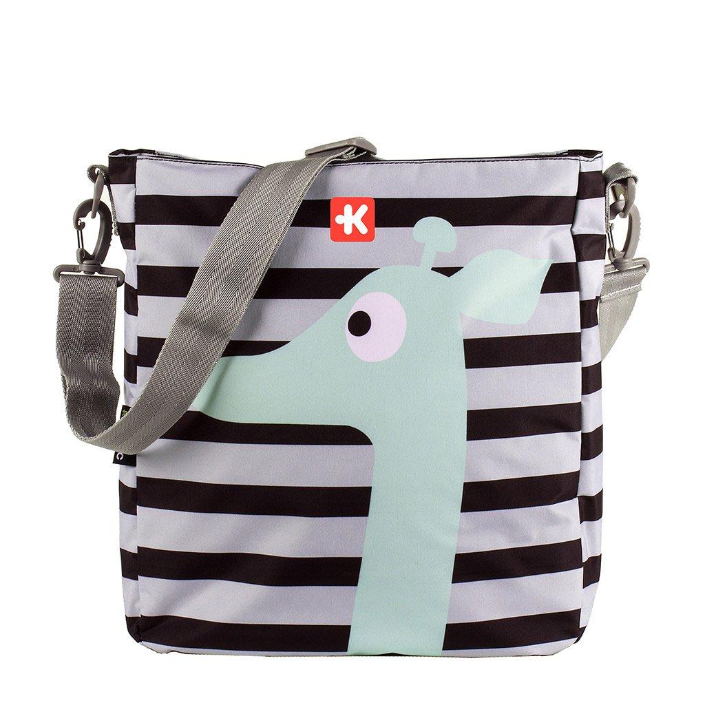 Kiwisac Happy Trip Bolso de Silla de Paseo Unisex con un Diseño Estampado de Jirafas/Bolso para Carro Bebé para Pañales con Bandolera Ajustable, Color ...