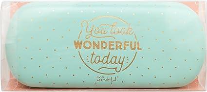 Mr. Wonderful Funda para gafas, You Look Wonderful Today: Amazon.es: Oficina y papelería