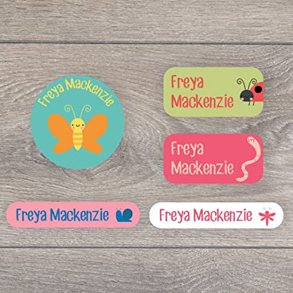 Etiquetas de nombre para niños con texto en inglés «Insects», una ...
