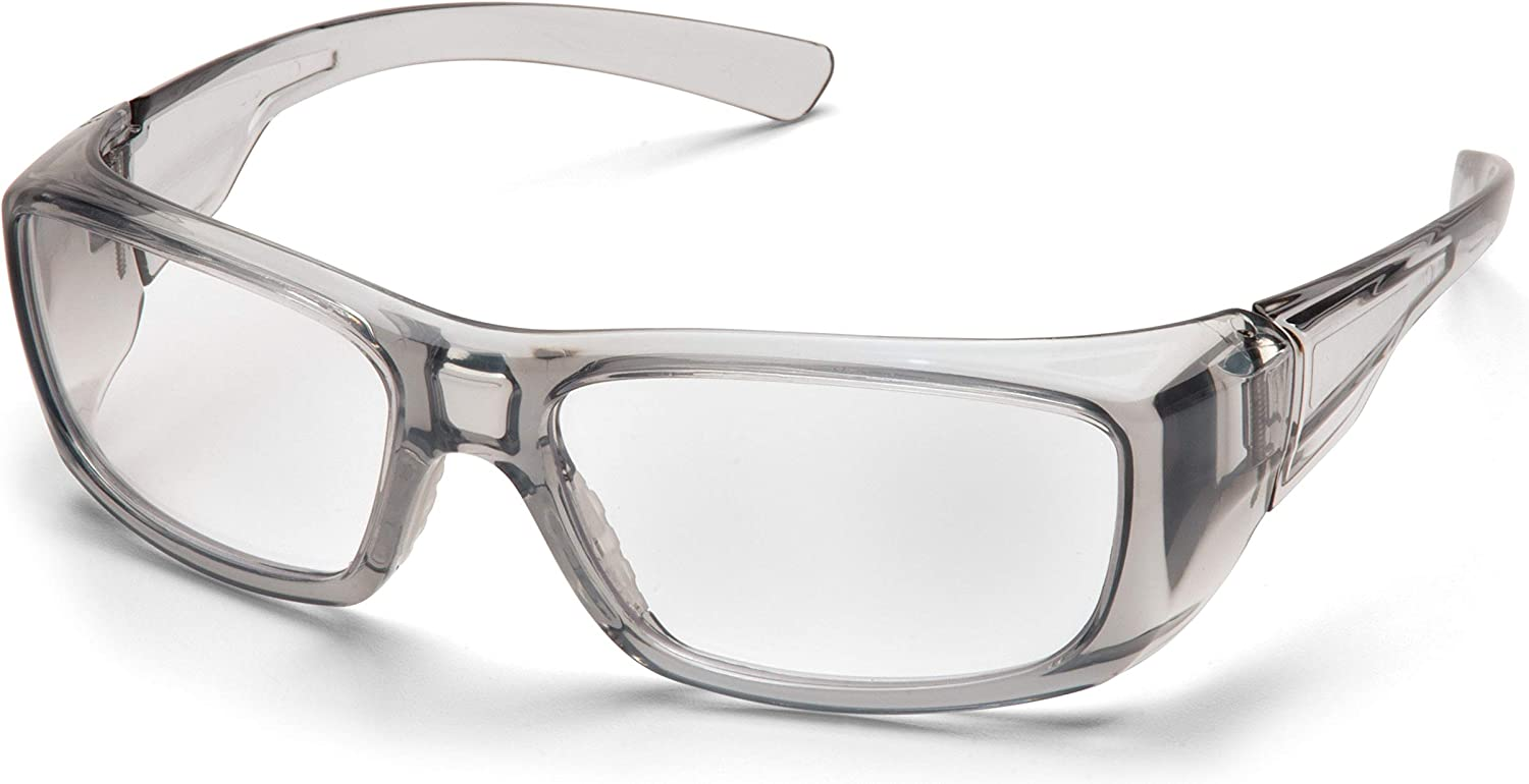 PYRAMEX SG7910D15 Pyramex Clear Safety Reader Glasses, Scratch-Resistant, Gray Frame - Safety Glasses -