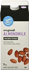 Amazon Brand - Happy Belly Original Almond Milk (Unsweetened), 64 Fl Oz