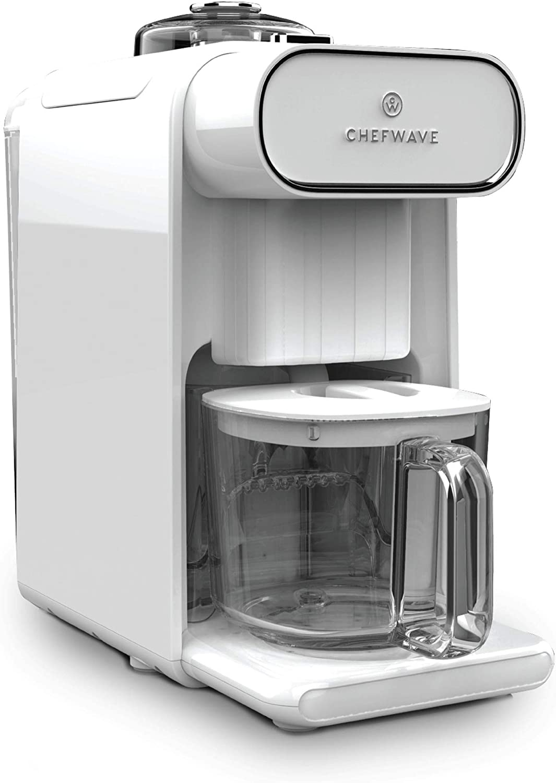 ChefWave Milkmade Dairy Alternative Vegan Milk Maker with 6 Plant-Based Auto Programs (Almond, Cashew, Oat, Soy, Macadamia, Coconut), No Soaking, Auto-Clean Function, Delay Start, Recipe Book