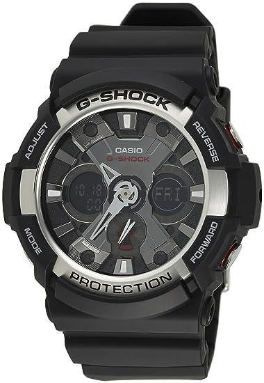 Casio G-Shock reloj de Hombre analógico Digital Modelo ga-200 - 1 A negro en el exterior modelo Reverse las importaciones: Amazon.es: Relojes