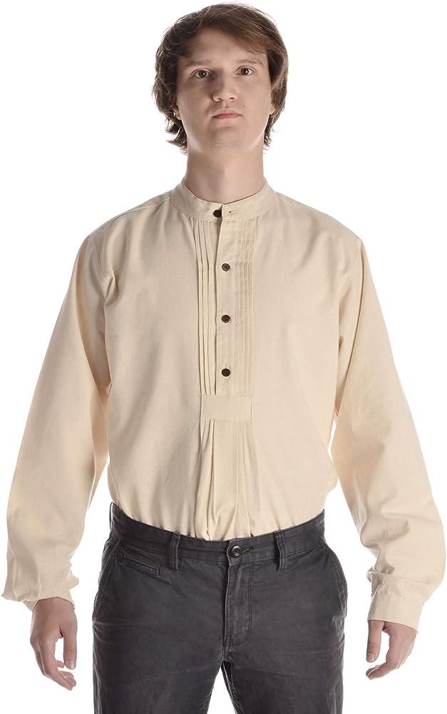 Hemad Camisa ISAR Tradicional - Algodón Puro - S Beige: Amazon.es: Ropa y accesorios
