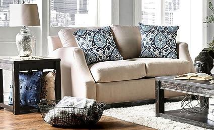 Peachy Amazon Com Furniture Of America Sm3057 Sf Beltran Blue And Creativecarmelina Interior Chair Design Creativecarmelinacom