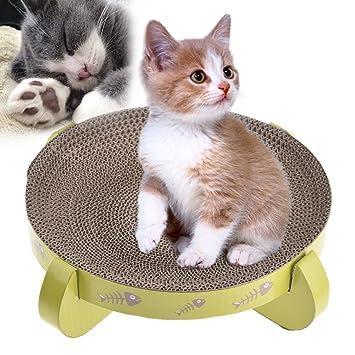 Hypeety Rascador de gatos de cartón reversible, juguetes de recambio para gatos con vainilla para rascar, acurrucarse y descansar: Amazon.es: Productos para ...