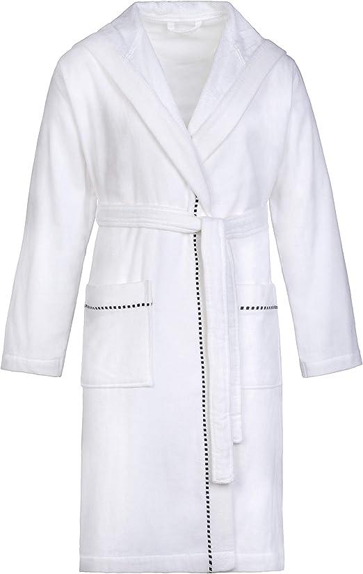 Esprit Box - Albornoz unisex con capucha (felpa), 100 % algodón ...