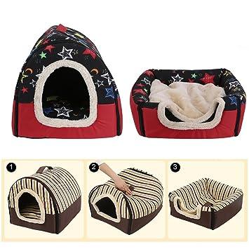 YTCDX - Cama Plegable para Perro, Cachorro, Gato, casa, caseta de Nido, Cama para Mascota, Tienda de campaña de Viaje: Amazon.es: Productos para mascotas