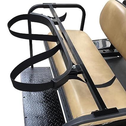 66bd2c1a43e1 Amazon.com : Universal Golf Cart Rear Seat Bag Attachment Holder ...