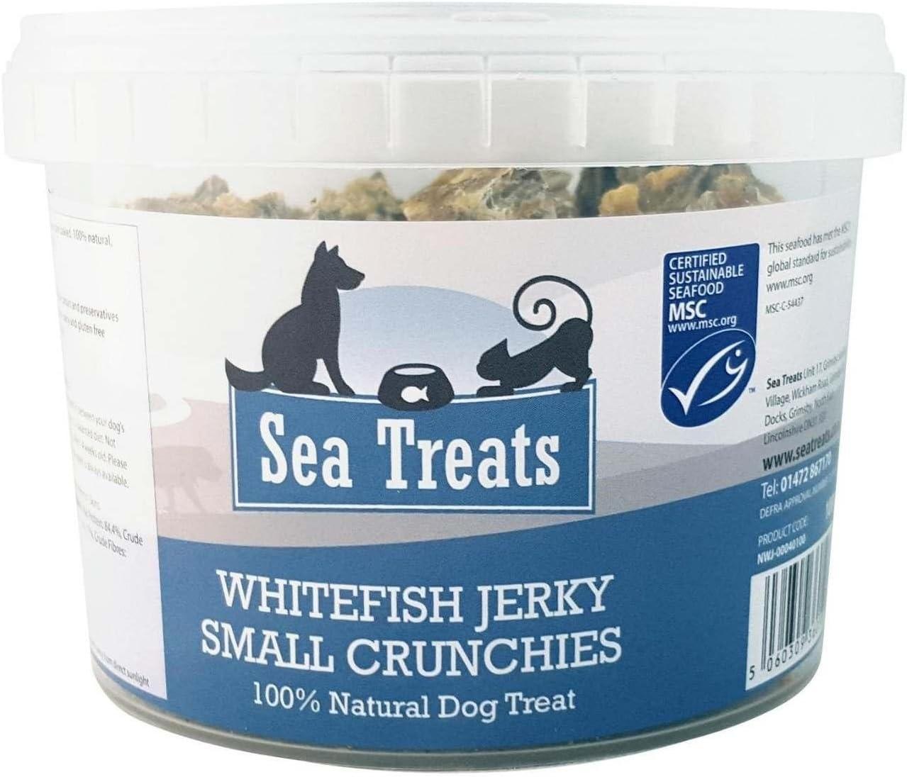 Sea Treats Whitefish Jerky Crunchies Small Dog Treats 1 Kg Amazon Co Uk Pet Supplies