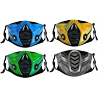 4PCS with 8 Filters Reusable Face Mask Washable Adjustable Masks for Men Women Boys Girls Made in USA