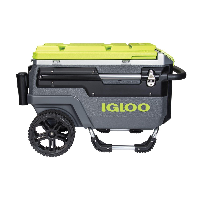 Igloo Trailmate Journey Cooler 70 quart Charcoal//Acid Green//Chrome