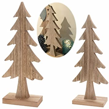 Deko Tannenbaum Holz.Amazon De Ls Design Deko Holz Weihnachtsbaum Tannenbaum