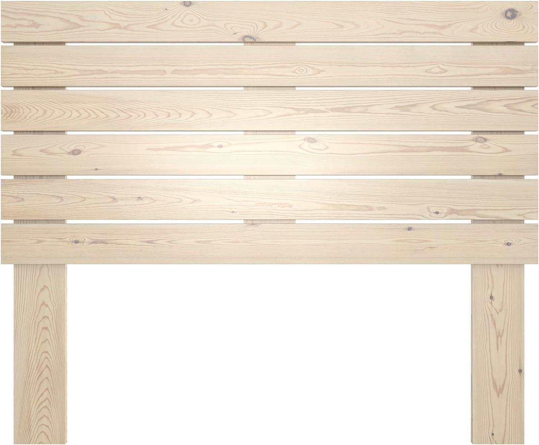 LA WEB DEL COLCHON - Cabecero de Madera Rústico Campagne para Cama de 180 (190 x 120 cms) Barnizado Natural