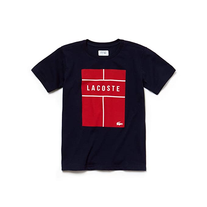 Tennis Shirt Amazon Lacoste T Abbigliamento Black it pqwaEf