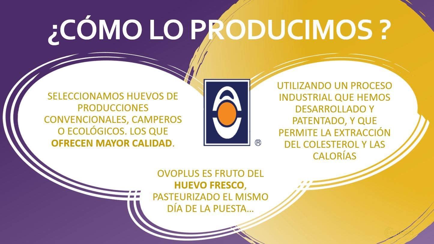 Huevo Líquido OVO PLUS   Saludable   Natural   70% Menos de colesterol Y 45% Menos Calorías   Sin Aditivos   Sin Conservantes   Recetas Dulces y ...