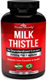 Pure Milk Thistle Capsules - A Potent 1200mg Milk Thistle Supplement with 4X Concentrated Extract (Standardized) 120 Vegetarian Capsules