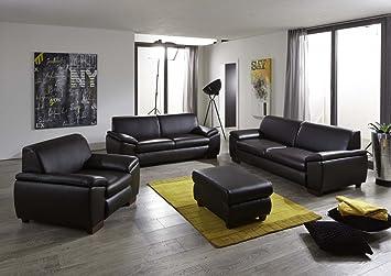 Dreams4Home Sofagarnitur \'Loft\', Sofa, Wohnzimmer, braun, Kunstleder ...