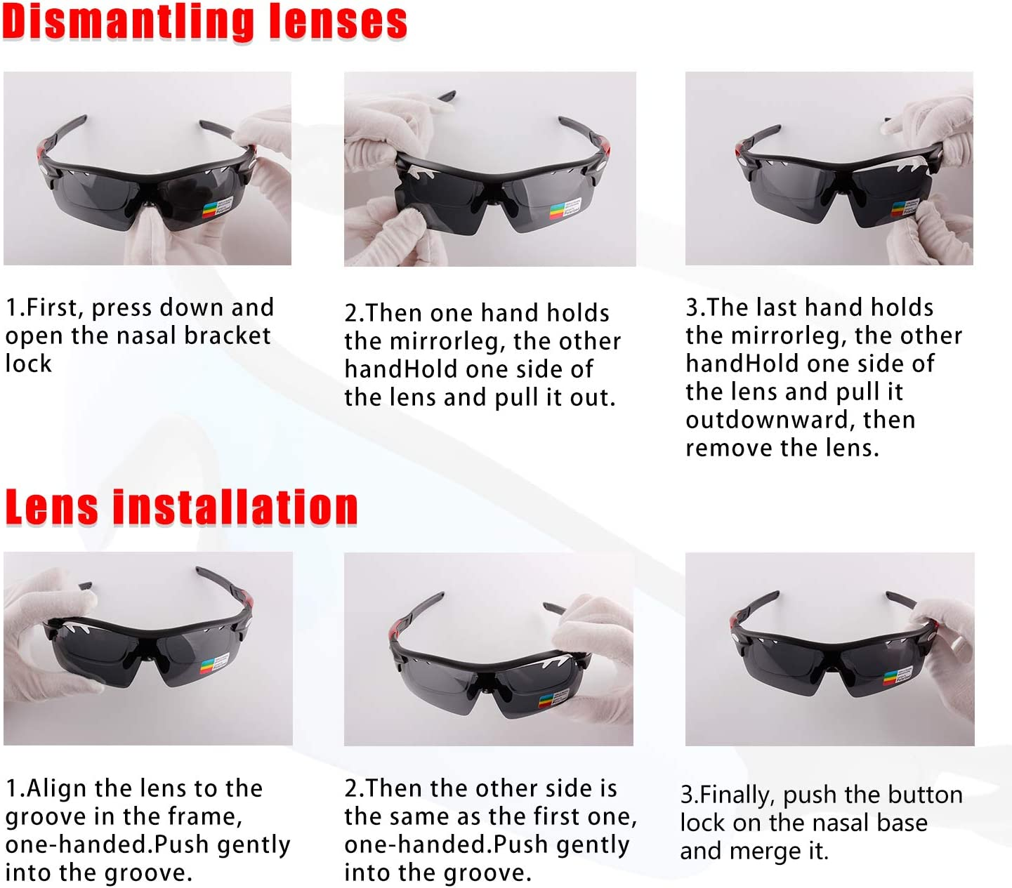 with 5 Interchangeable Lenses for Running Toneoesol Polarized Sports Sunglasses for Men Women Cycling Glasses