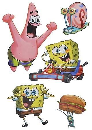 Unbekannt 5 Tlg Set Fensterbilder Sticker Spongebob