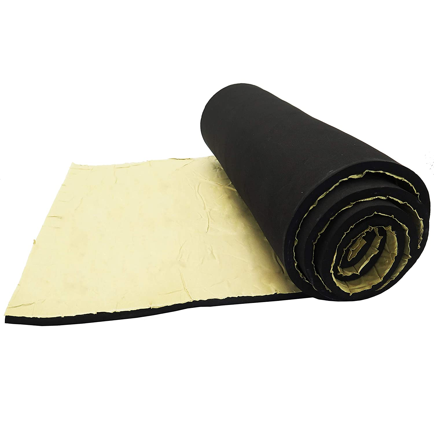 Neoprene Sponge Foam Rubber Roll with Adhesive 15in x 60in x 3 8in Thick for DIY Projects