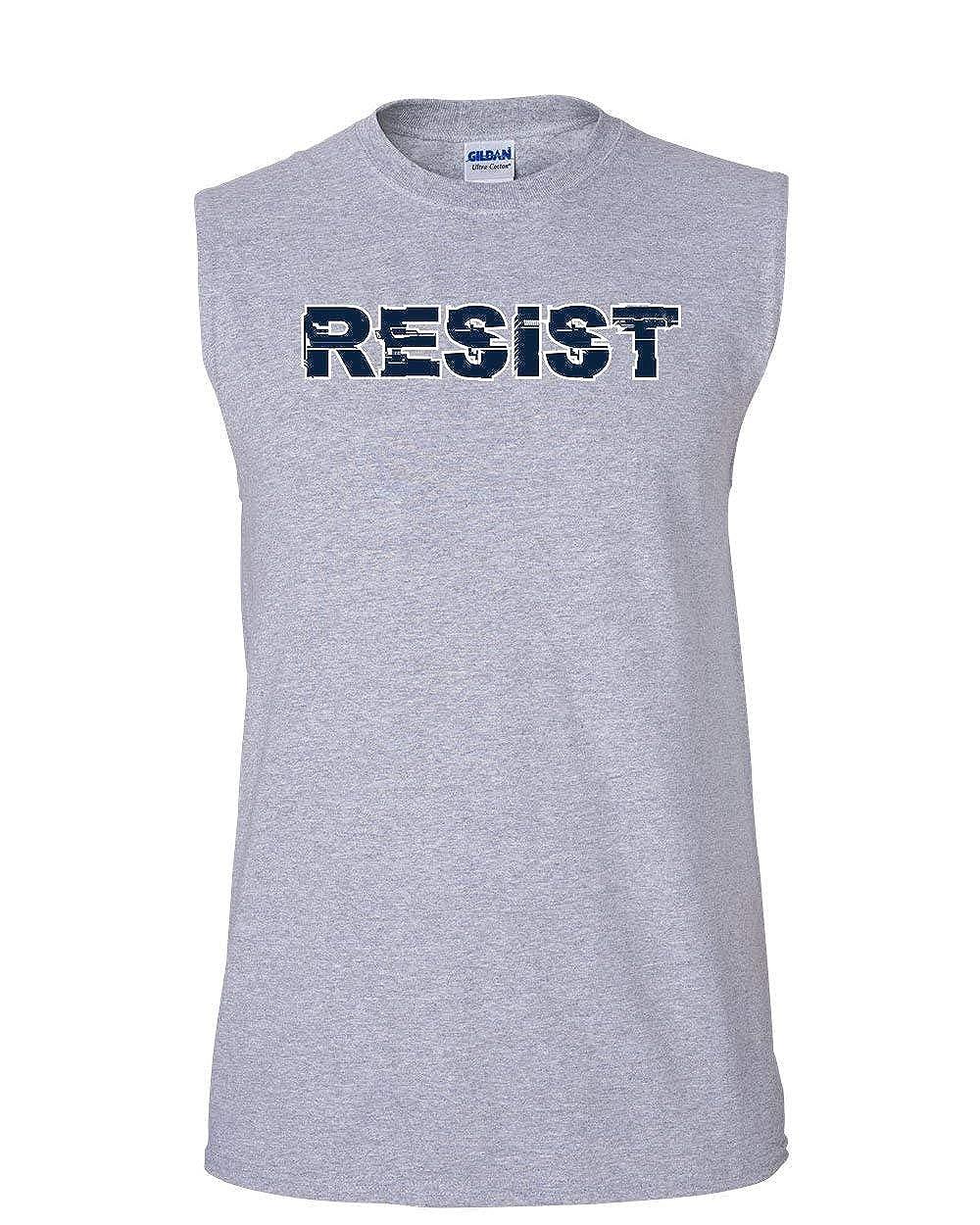 Resist Muscle Shirt Anti Trump Not My President Impeach 45 Patriotic Sleeveless