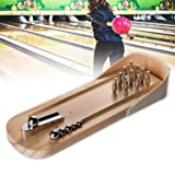 Glantop Mini Wooden Bowling Game Home Office Desk