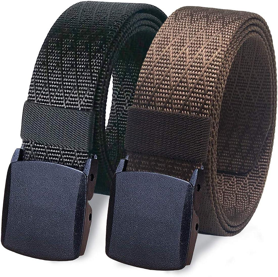 Men Outdoor Sports Military Tactical Nylon Waistband POM Buckle Belt