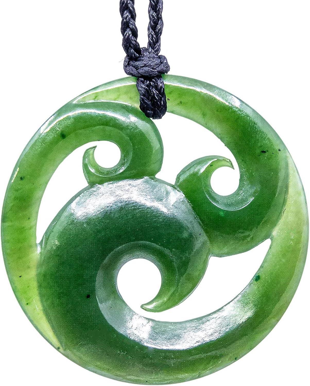 Maori Jade Carving  Koru  aus Neuseeland