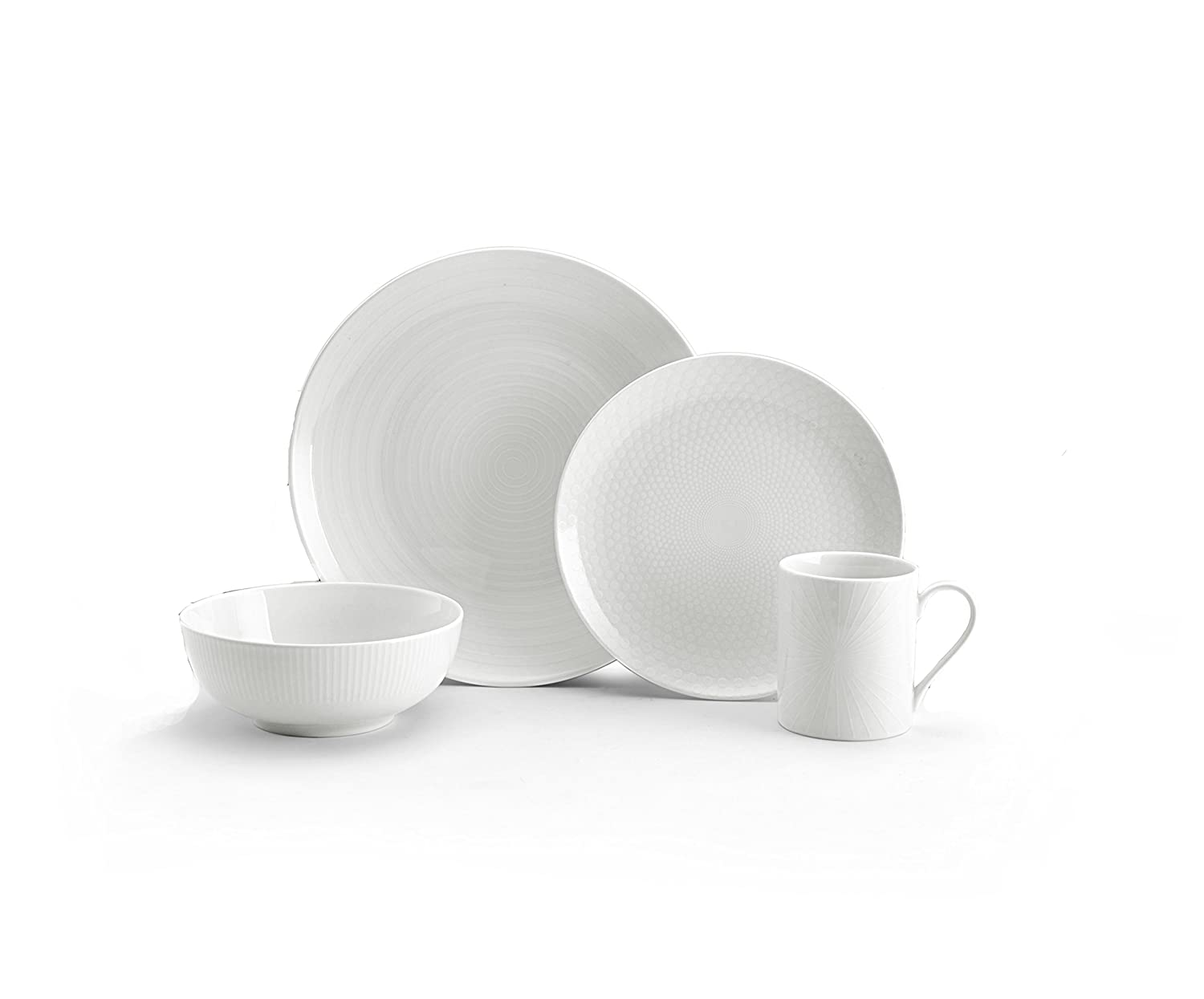 Amazon.com Mikasa Cheers White 40-Piece Cheers Dinnerware Set Service for 8 Kitchen \u0026 Dining  sc 1 st  Amazon.com & Amazon.com: Mikasa Cheers White 40-Piece Cheers Dinnerware Set ...
