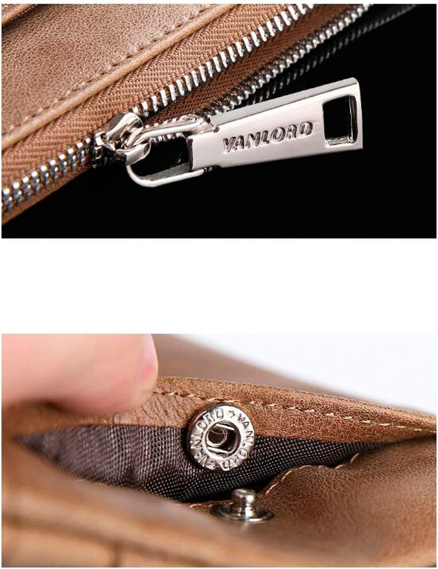 Bifold Side Flip Extra Capacity Travel Wallet 8haowenju 2 ID Window RFID Wallet for Men