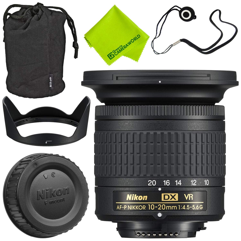 Nikon AF-P DX NIKKOR 10-20mm f/4.5-5.6G VR Lens + 72mm UV Filter + Fibercloth + Lens Capkeeper Deluxe Cleaning Kit Bundle by Nikon