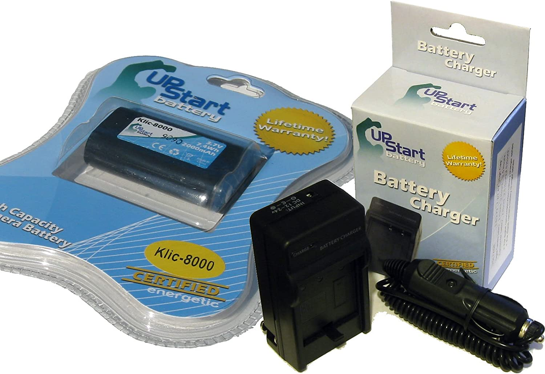Upstart Battery Klic-8000 Replacement Battery and Charger Kit for Kodak Digital Cameras