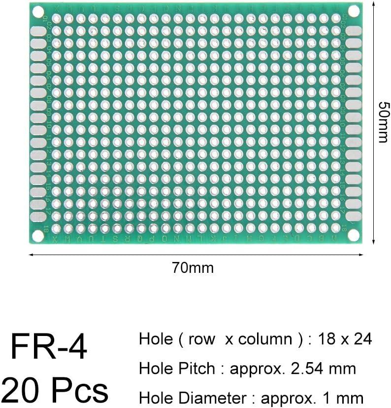 sourcing map 5x7cm Double face Universel Circuit imprim/é pour DIY Soudure 20pc