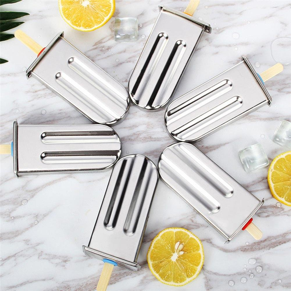 Amazon.com: DIY 10 PCS Stainless Steel Ice Pop Mold Set Ice ...