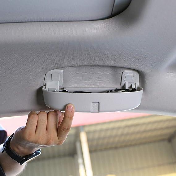 Lfotpp Auto Sonnenbrillenhalter Brillenetui Auto Innenraum Für Golf 7 Tiguan Passat B8 Atlas L Grau Auto
