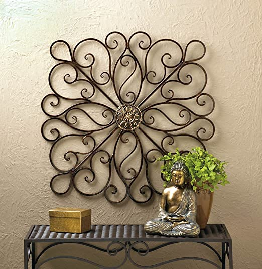 Home Interiors Medallion Metal Wall Art Decor Living Room Hangings Sculpture New