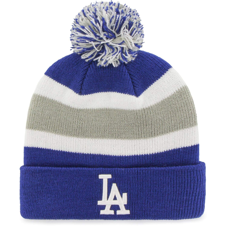 16ec23c8dc738 Amazon.com   Fan Favorite MLB Los Angeles Dodgers Retro Breakaway Stocking Hat  Beanie with Pom   Sports   Outdoors