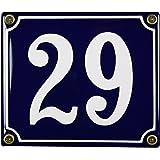 FastGame plaque 29 en émail résistant aux intempéries bleu 12 x 14 cm-livraison immédiate numéro emailleschild