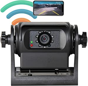 RED WOLF Phone Wireless WiFi Backup Camera Compatible with iPhone Android iPad Magnetic Mount on Gooseneck Horse Campers Trailer Hitch, Motorhomes,Trucks,Fifth Wheel Battery Charge